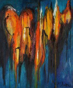 Angeli-2 peinture à l'huile sur toile de lin