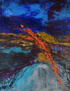 grande toile abstraite Sainte-Anne collection les lagons