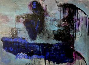 danse des ombres Collection contemplation acrylique/colage